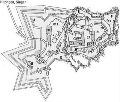 Plan der Festung