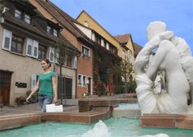 Brunnen in der Altstadt Engen