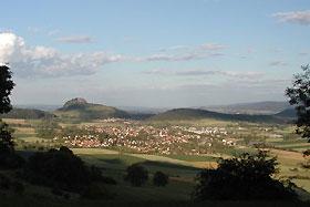Blick auf Hilzingen