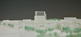 Impression eines städtebaulichen Modells