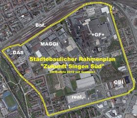 Grenzen zum Städtebaulichen Rahmenplan
