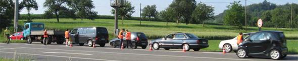 Bild: Befragung der Verkehrsteilnehmer