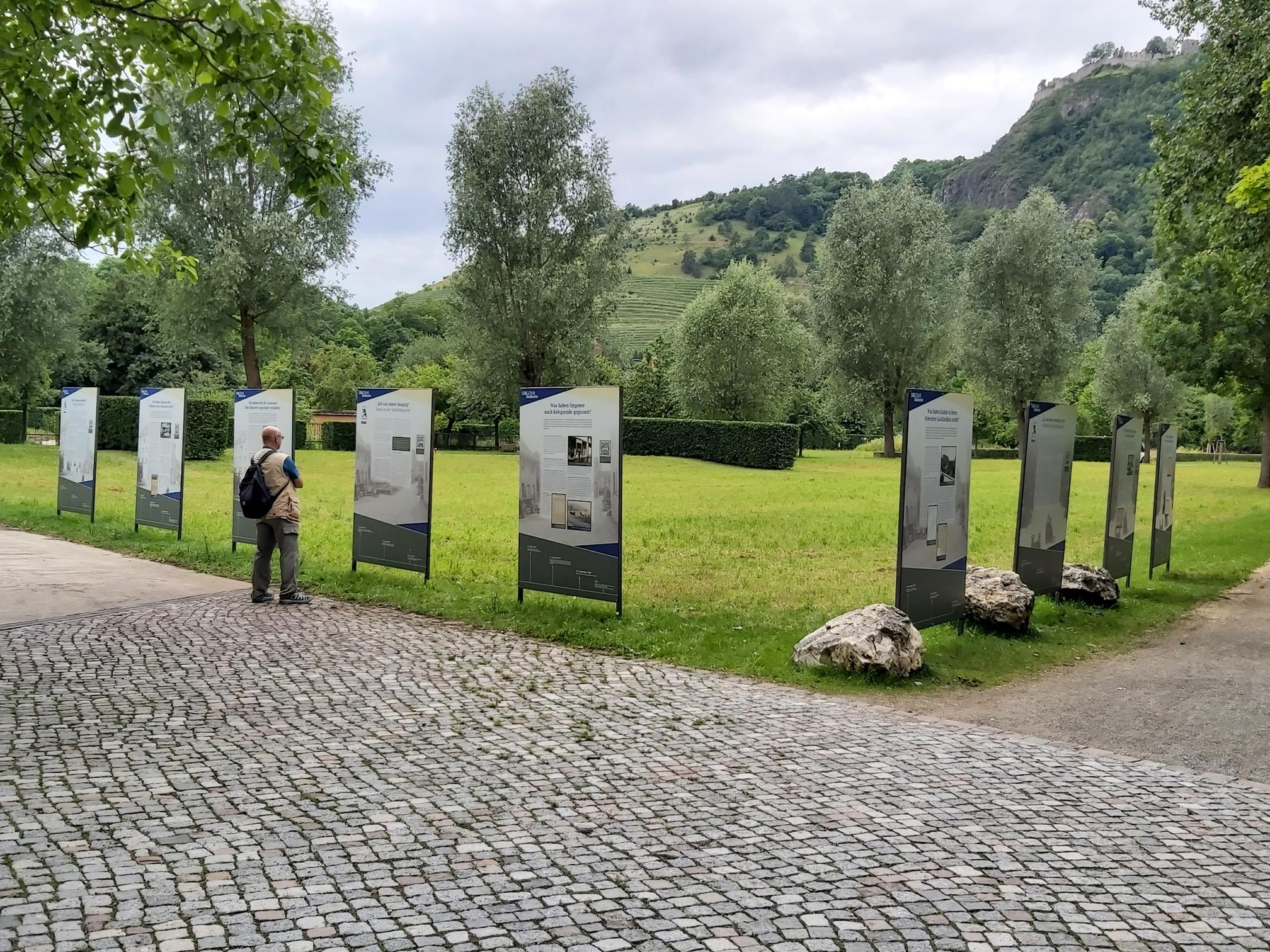 Ausstellung zur Nachkriegszeit im Stadtgarten