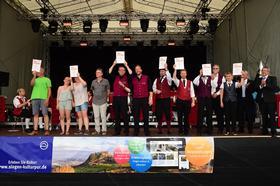 2018 - Juni:Verbandsmusikfest auf dem Rathausplatz
