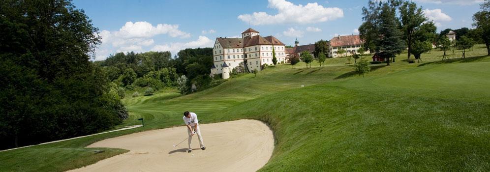 Schloss Langenstein mit Golfplatz