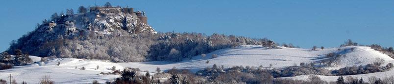 Blick auf Hohentwiel im Winter